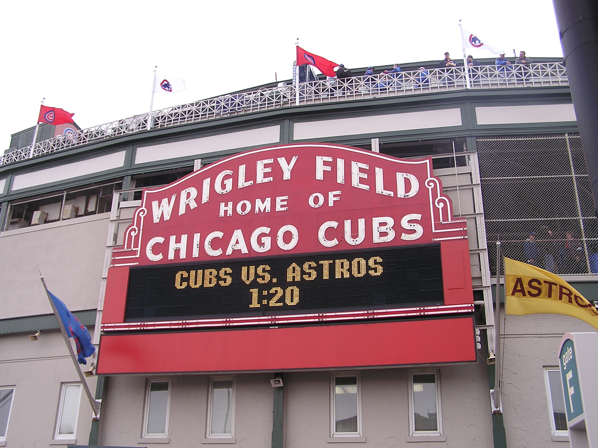 The Wrigley Field Marquee