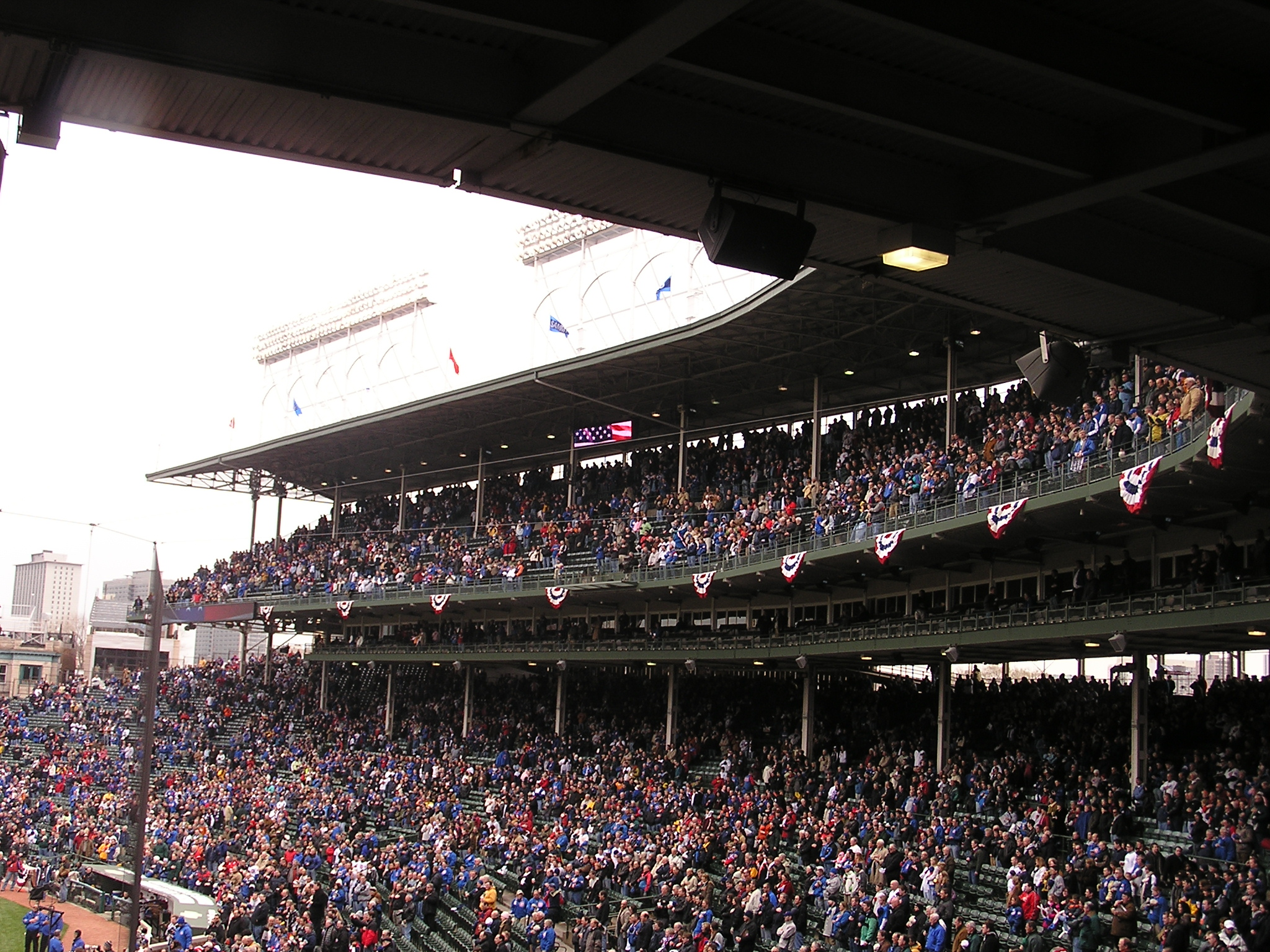 1st BASE STANDS - Wrigley Field, Chicago, Il